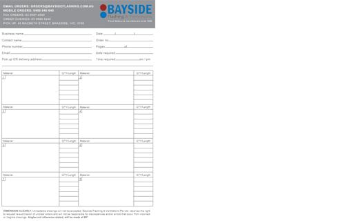 Bayside Flashing & Ventilations Pty Ltd  – Melbourne made